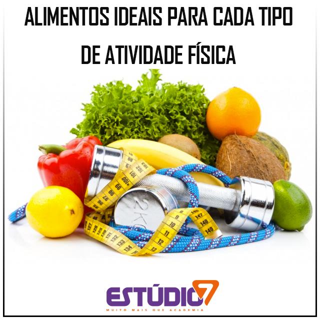 Alimentos ideais para cada tipo de atividade física